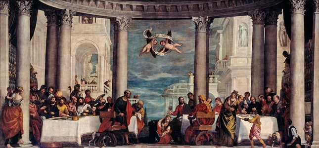 Meal at the House of Simon the Pharisee by Veronese in the Salon of Hercules