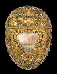 The Peter the Great Egg by the firm of Fabergé, donated to the museum in 1947.