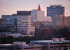 The skyline of Pill Hill in the Sandy Springs portion of Perimeter Center