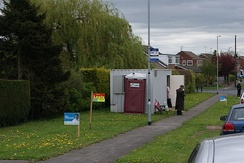 A polling station in Wetherby, West Yorkshire