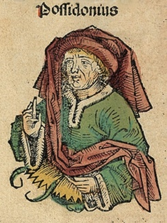 Posidonius, depicted as a medieval scholar in the Nuremberg Chronicle