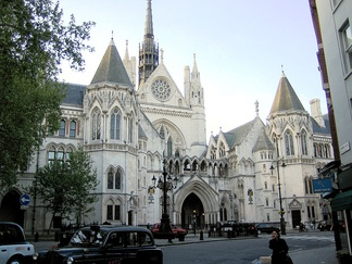 The Royal Courts of Justice (main building pictured) is on Strand in London, together with its adjacent Thomas More Building and its outpost Rols Building on Fetter Lane, it is the main seat of the High Court of Justice and the ordinary seat of the Court of Appeal.