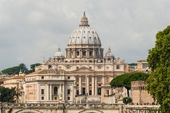 St. Peter's Basilica in Vatican City, the largest church in the world