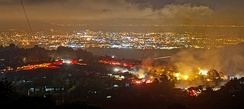 View of the San Bruno fire on September 9, 2010 at 11:31 pm PDT