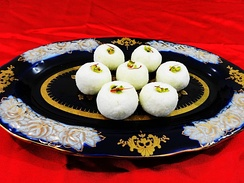 Sandesh, created with milk and sugar