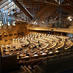 The Scottish Parliament at Holyrood has 129 MSPs with extensive powers, including taxation.