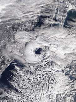 A polar low over the Sea of Japan in December 2009