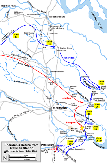 Sheridan's return to the Army of the Potomac from his Trevilian Station raid
