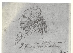 Robespierre on the day of his execution; Sketch by Jacques Louis David