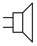 Electronic symbol for a speaker