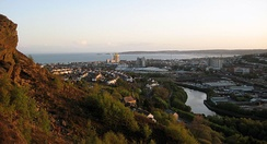Swansea Bay and city centre. Swansea is Wales' second most populous city.