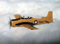 An early-production U.S. Navy T-28B in 1954