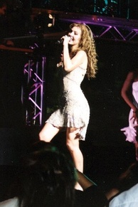 Thalía in the High Voltage Tour Los Angeles concert on May 14, 2004