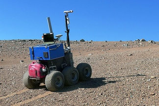 The ESA Seeker autonomous rover during tests at Paranal.[1]