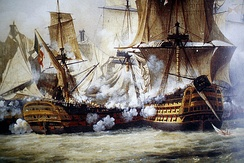 The 1805 Battle of Trafalgar