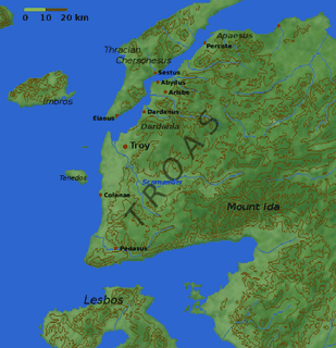 Map of the Troad, including the site of Troy