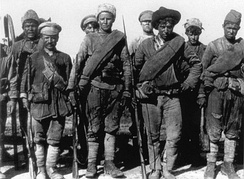 Russian soldiers of the anti-Bolshevik Siberian Army in 1919