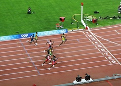 The 100 m final at the 2008 Summer Olympics