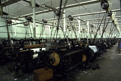 A typical weaving shed at Queen Street Mill Textile Museum, Burnley