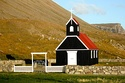Wooden church in the Westfjords.