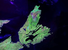 NASA landsat photo of Cape Breton Island
