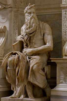 Moses, c. 1513-1515, for the tomb of Pope Julius II