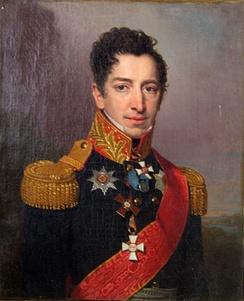 Генерал Пётр Кикин, высказавший мысль о строительстве в Москве храма-памятника, 1814—1815 годы