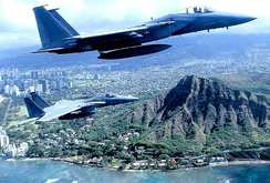199th Fighter Squadron - F-15 Eagles over Hawaii