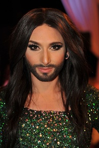Conchita Wurst, self-described gay male and drag queen, winner of the 2014 Eurovision Song Contest