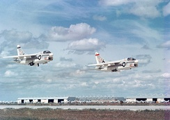 VA-147 was the first operational USN A-7 squadron, in 1967.