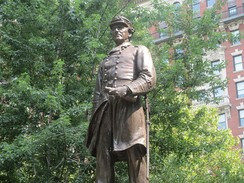 Farragut Monument at Madison Square Park off Fifth Avenue in New York City