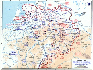 The reduction of the Ruhr Pocket and advance to Elbe and Mulde rivers between 5 and 18 April 1945