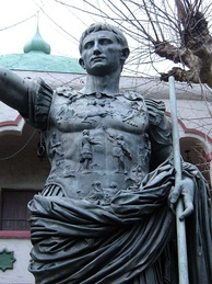 Statue of Augustus of Prima Porta at Rosicrucian Egyptian Museum.