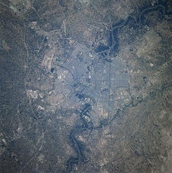 Baghdad as seen from the International Space Station