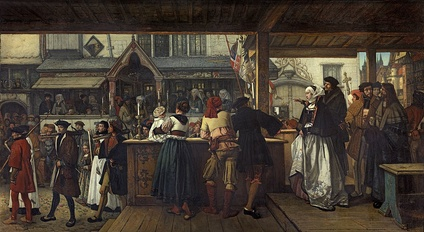 Visit of Albrecht Dürer in Antwerp in 1520, Jan August Hendrik Leys, 1855, Royal Museum of Fine Arts Antwerp, 2198