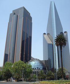 Mexican Stock Exchange in Paseo de la Reforma, Mexico City
