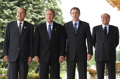 Jacques Chirac, George W. Bush, Tony Blair and Silvio Berlusconi. They are considered the symbolic leaders of 2000s.