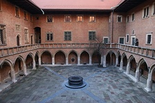 Courtyard of Kraków University's Collegium Maius, a site of Polish higher learning since 1400