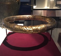 The gilded silver diadem of Philip II, found in his tomb at Vergina