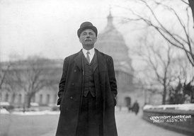 Congressman Dorsey W. Shackleford, standing in front of the U.S. Capitol, 1911