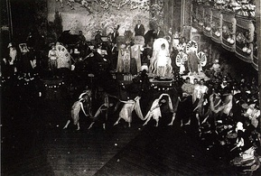 "Drag Ball in Webster Hall, ca. 1920s. Many queer-identified men denigrated the ""flagrant"" appearances of ""fairies"" at such events.[14]:298"