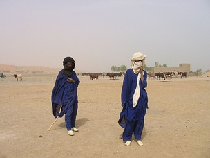 Fulani herders in the arid region of Gao, Northern Mali