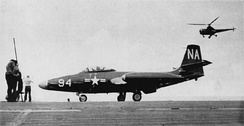 VC-4 made a single deployment with F2H-2N night fighters aboard Franklin D. Roosevelt in 1951.
