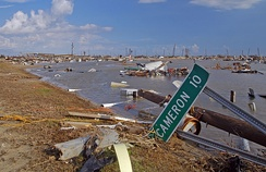 Holly Beach, a town along the Gulf Coast completely destroyed by Rita