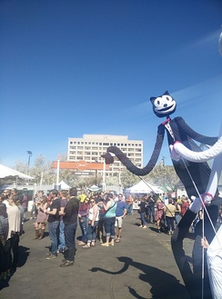 Felix as a giant puppet at the 2015 Treefort Music Fest