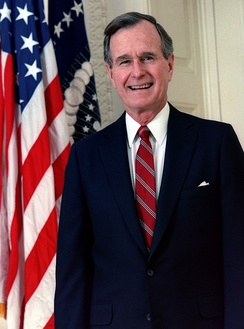 "A rerun of ""Stark Raving Dad"" featured a response to a comment made by George Bush."