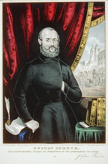 Gustav Struve, German revolutionary and a leading figure in the initial stage of the German vegetarian movement.