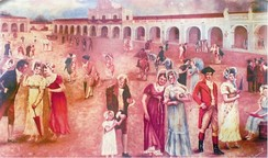 Criollos rejoice upon learning about the declaration of independence from Spain on 15 September 1821.