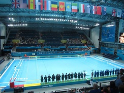 Inside the Water Polo Arena