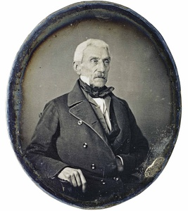 Daguerreotype of libertador José de San Martín made in Paris 1848.